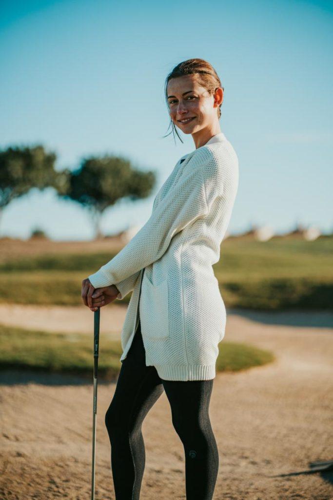 Jennifer Lange: Golfnewbee, Gesundheitsmanagerin, Zumba-Trainerin, Influencerin und Lebensgefährtin von Andrej (Picture by Marc Bremer MB-Mediaworld)